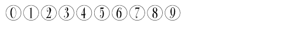 Bullet Numbers Bodoni Condensed Positive Font OTHER CHARS
