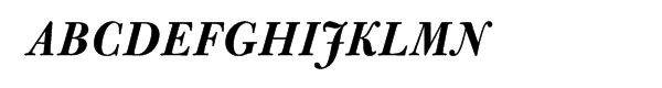 Bulmer® Pro Bold Italic Font UPPERCASE