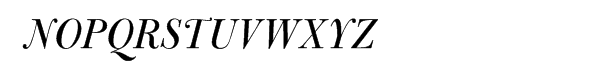 Bulmer® Pro Italic Display Font UPPERCASE