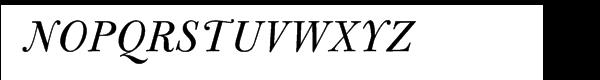 Bulmer® Pro Italic Font UPPERCASE