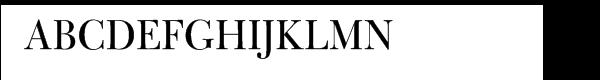 Bulmer® Pro Regular Display Font UPPERCASE