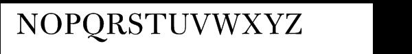 Bulmer® Pro Regular Font UPPERCASE