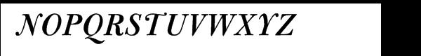 Bulmer® Pro Semibold Italic Font UPPERCASE