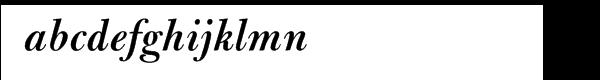 Bulmer® Pro Semibold Italic Font LOWERCASE