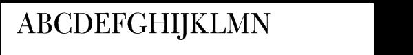 Bulmer® Regular Display  What Font is