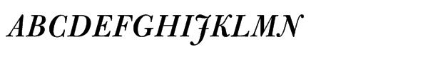 Bulmer® Std Semibold Italic  What Font is