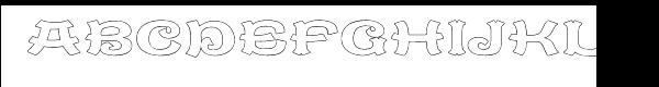 Caractere Doublet Outline  नि: शुल्क फ़ॉन्ट्स डाउनलोड