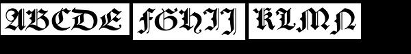 Caslon Gotisch  What Font is