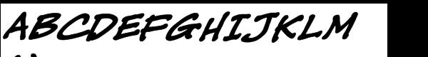 CC Tough Talk Bold Italic  What Font is