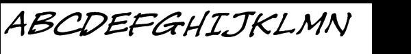 CC Tough Talk Italic  What Font is