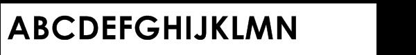 Century Gothic™ Std Bold Font UPPERCASE