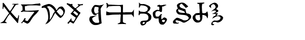 Chaldean Font UPPERCASE