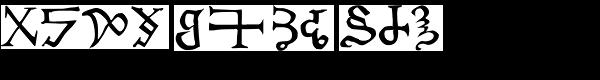 Chaldean Font LOWERCASE