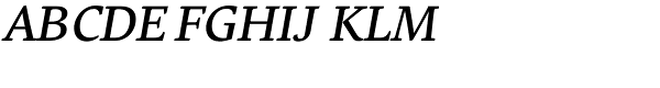 Comenia Serif Pro Italic  What Font is