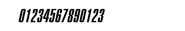 Compact Oblique OT Font OTHER CHARS