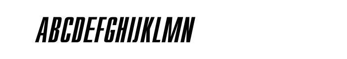 Compact Oblique OT Font UPPERCASE