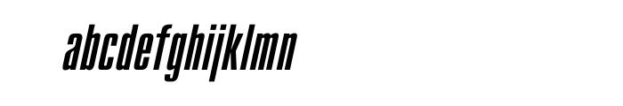 Compact Oblique OT Font LOWERCASE