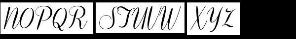 Coneria Script Medium Font UPPERCASE