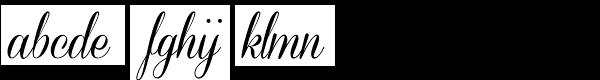 Coneria Script Medium Font LOWERCASE