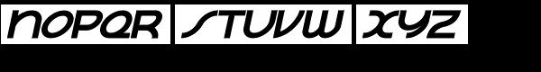 Contessa Bold Italic Font UPPERCASE