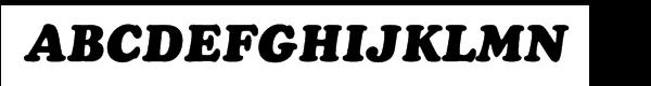 Cooper Cyrillic Black Italic  What Font is