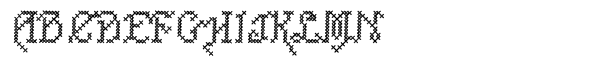 Cross Stitch Std Carefree  What Font is