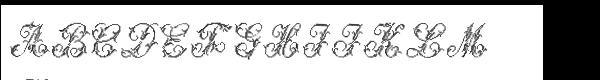 Cross Stitch Std Majestic Font UPPERCASE