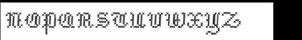 Cross Stitch Std Medieval Font UPPERCASE