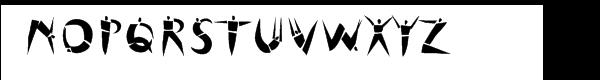 Cutout Font LOWERCASE