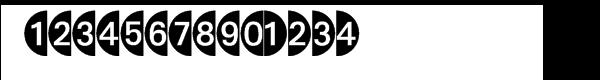 Deconumbers Pi™ #1 (Circle) Font LOWERCASE