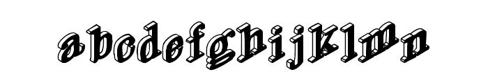 DryGulchBlack Font LOWERCASE