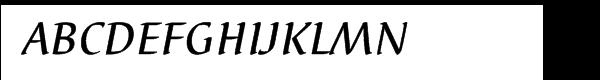 EF Elysa Medium Italic Small Caps  What Font is