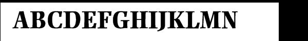 Ellington® ExtraBold Font UPPERCASE