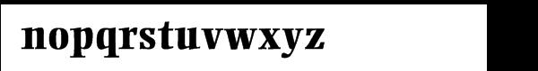 Ellington® ExtraBold Font LOWERCASE