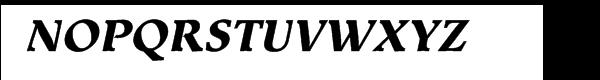 Equilibre Gauche Extrabold Italic Font UPPERCASE