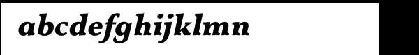 Equilibre Gauche Extrabold Italic Font LOWERCASE