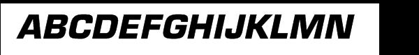 Eurostile® Bold Oblique  What Font is