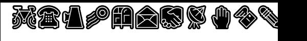 Fatline Whiteline Font UPPERCASE
