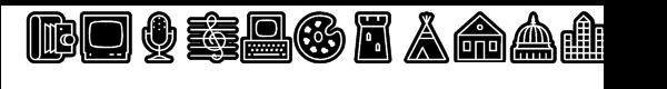 Fatline Whiteline Font LOWERCASE