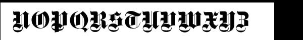 Fette Gotisch Com Regular Font UPPERCASE