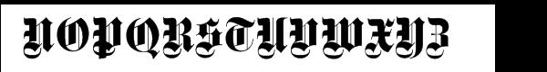 Fette Gotisch Regular Font UPPERCASE