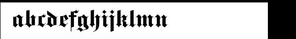 Fette Gotisch Regular Font LOWERCASE