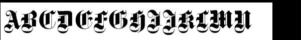Fette Gotisch Std (D)  What Font is