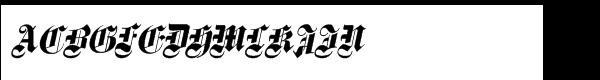 Fette Gotisch e Maiuskel Italic  What Font is