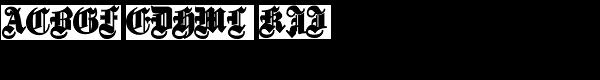 Fette Gotische Maiuskel Bold  What Font is