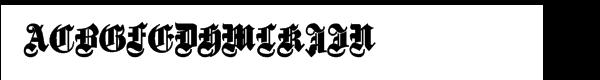 Fette Gotische Maiuskel Bold Font UPPERCASE
