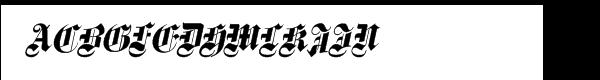 Fette Gotische Maiuskel Italic  What Font is