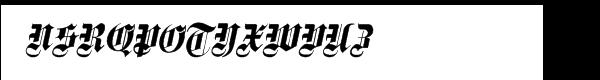 Fette Gotische Maiuskel Italic Font UPPERCASE