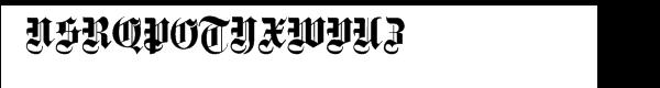 Fette Gotische Maiuskel, Shadow & Handtooled Font UPPERCASE