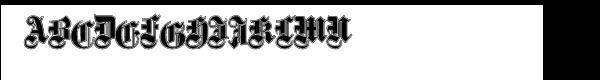 Fette Gotische Maiuskel, Shadow & Handtooled Font LOWERCASE